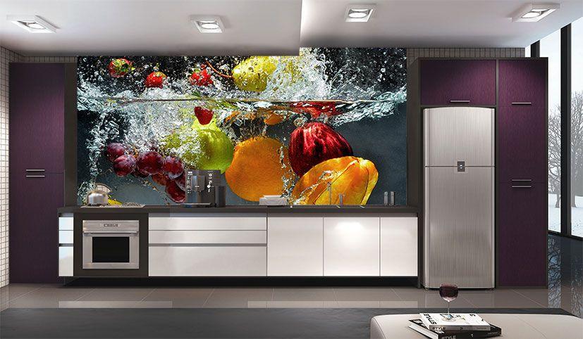 Papel De Parede Para Cozinha 0028 - Sobmedida: m²   - Paredes Decoradas