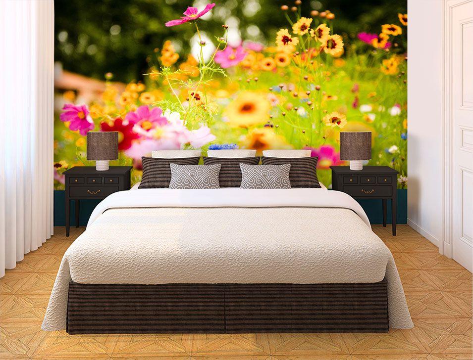Papel De Parede 3D   Flores 0001 - Papel de Parede para Sala  - Paredes Decoradas