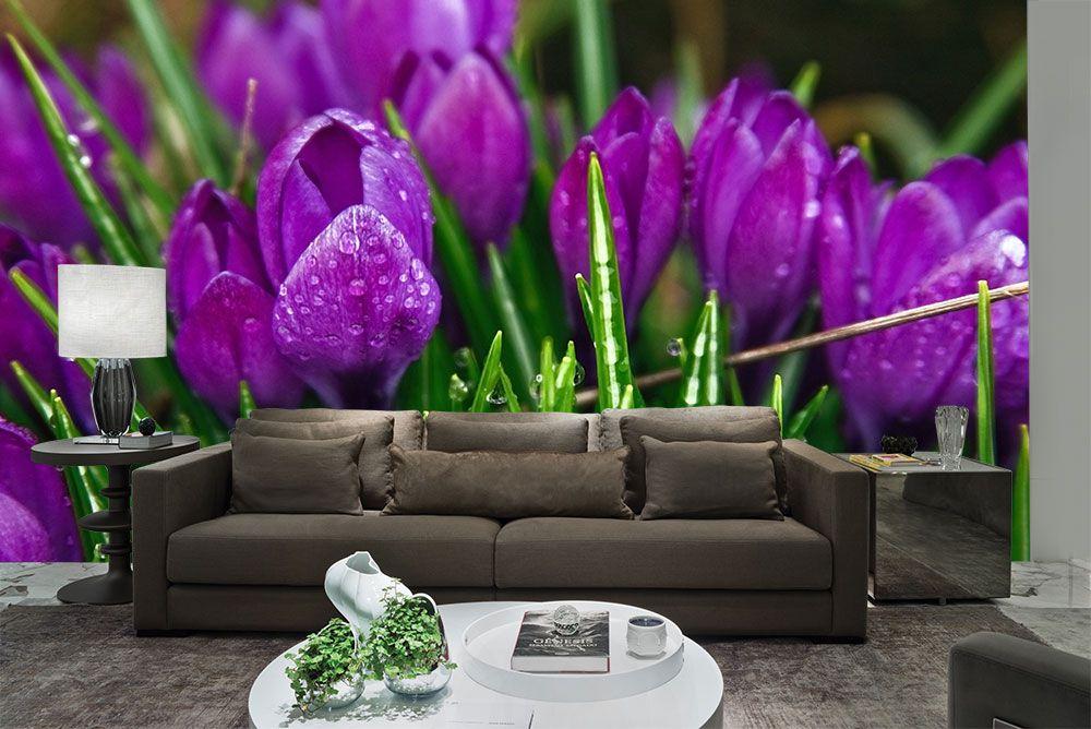Papel De Parede 3D | Flores 0003 - Adesivo de Parede  - Paredes Decoradas