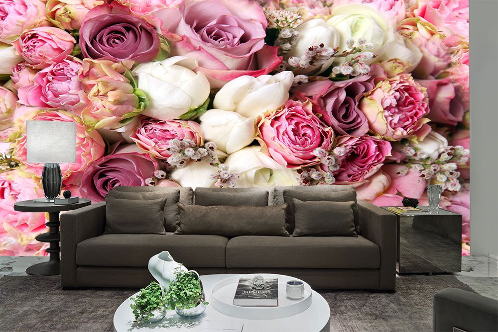 Papel De Parede 3D | Flores 0005 - Adesivo de Parede  - Paredes Decoradas