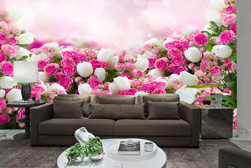 Papel De Parede 3D | Flores 0006 - Papel de Parede para Sala