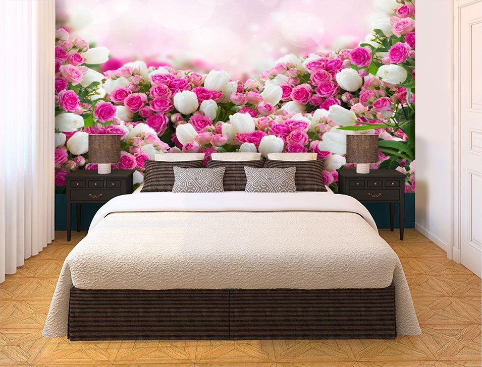 Papel De Parede 3D | Flores 0006 - Papel de Parede para Sala  - Paredes Decoradas