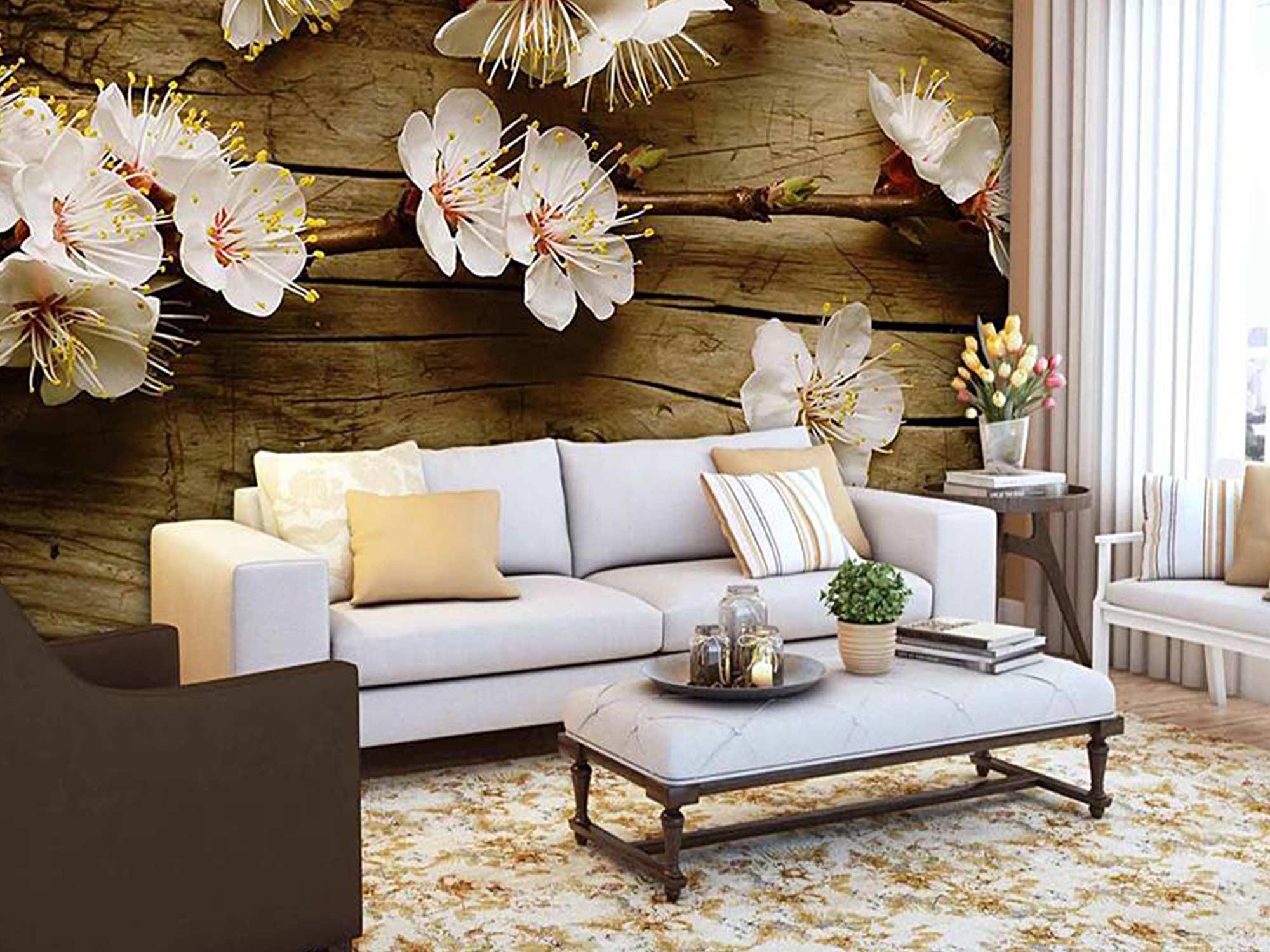 Papel De Parede 3D | Flores 0008 - papel de parede paisagem