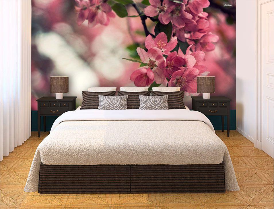 Papel De Parede 3D | Flores 0010 - papel de parede paisagem  - Paredes Decoradas