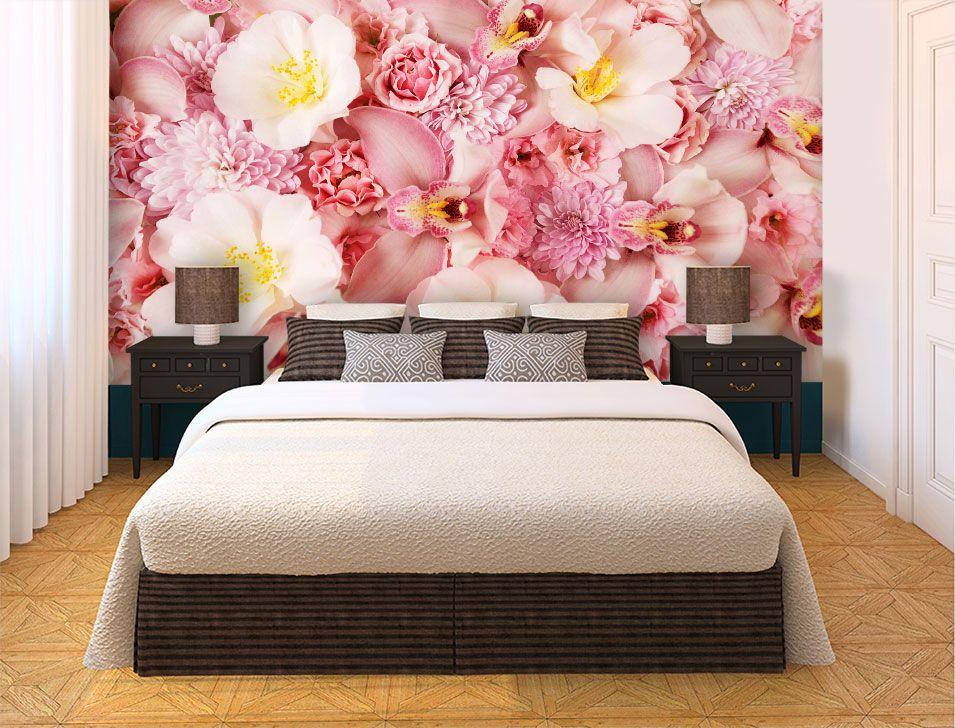 Papel De Parede 3D | Flores 0011 - papel de parede de flores  - Paredes Decoradas