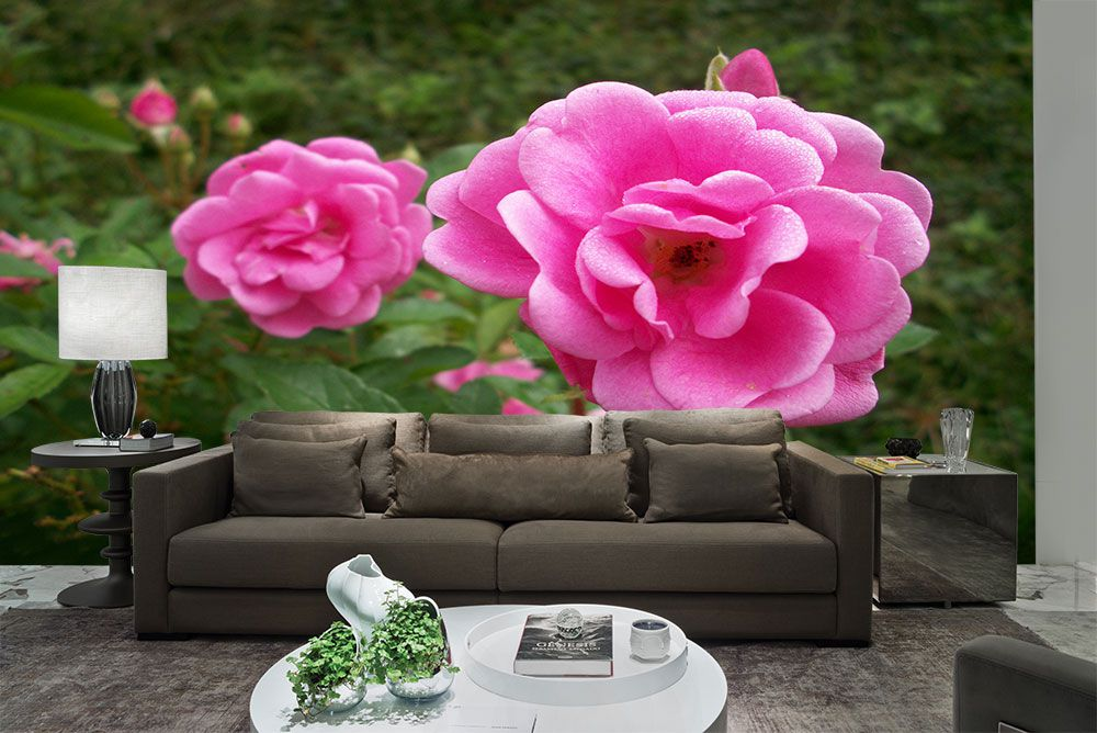 Papel De Parede 3D | Flores 0017 - papel de parede de flores  - Paredes Decoradas