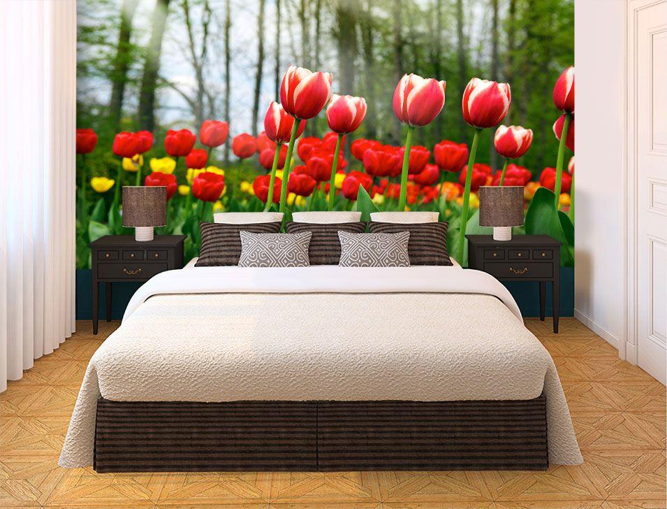Papel De Parede 3D | Flores 0019 - papel de parede de flores  - Paredes Decoradas