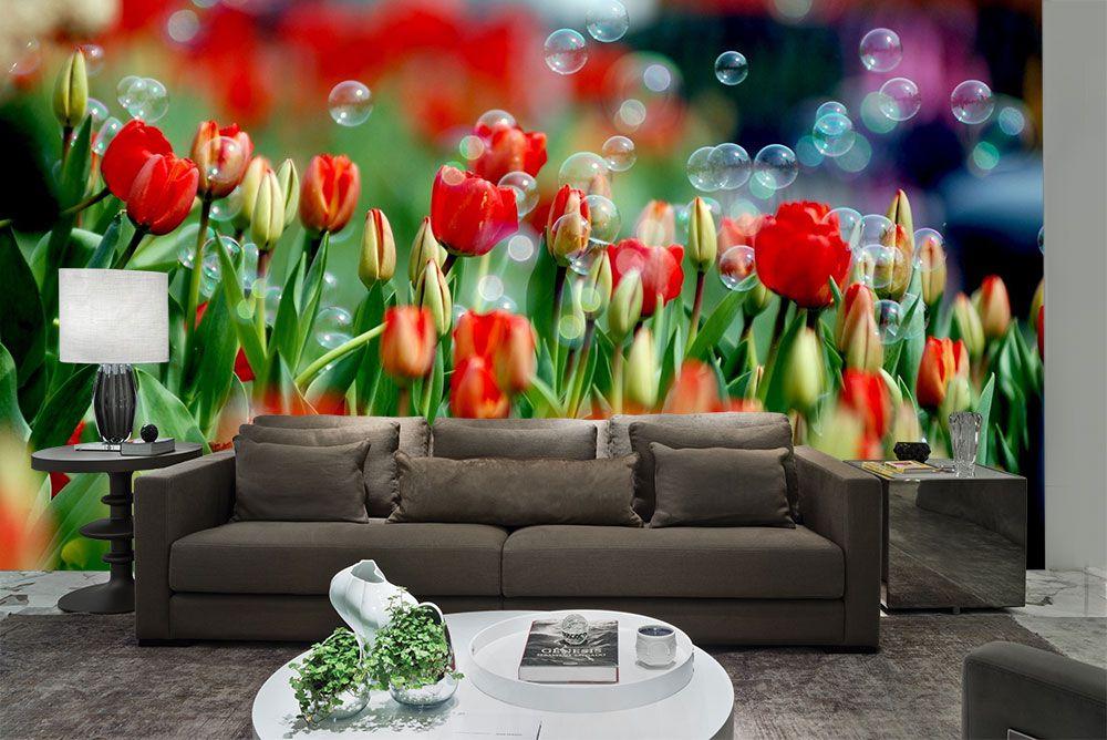 Papel De Parede 3D | Flores 0020 - papel de parede de flores