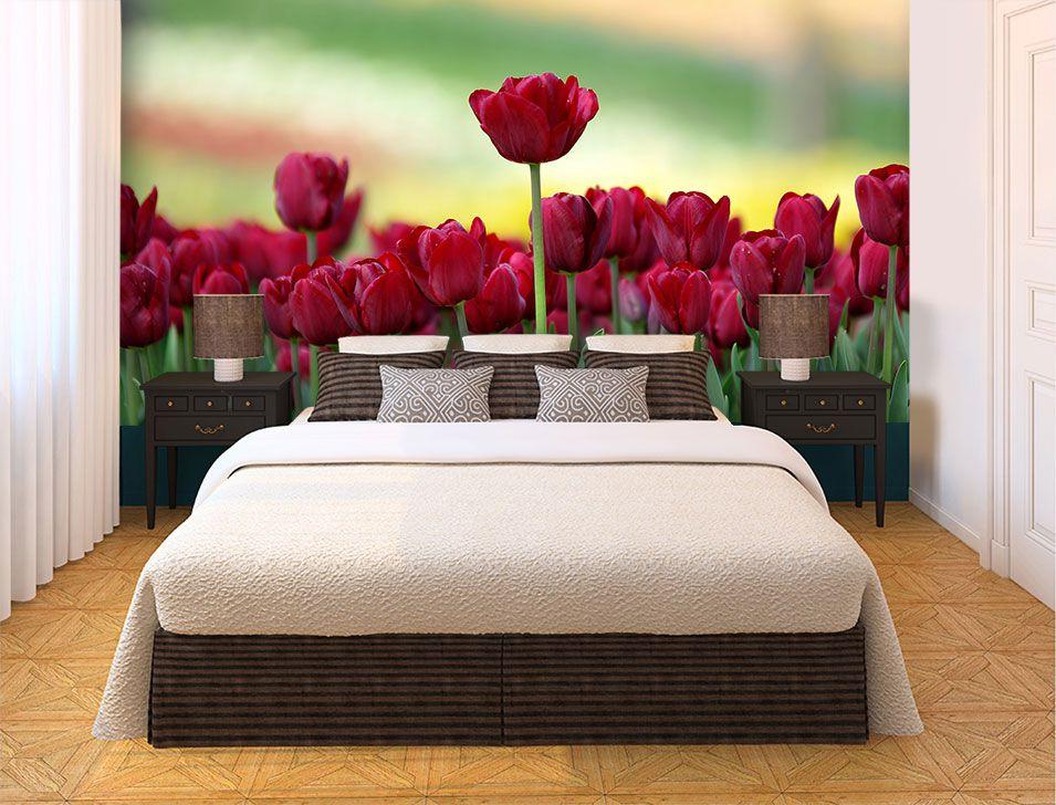 Papel De Parede 3D | Flores 0021 - papel de parede de flores  - Paredes Decoradas