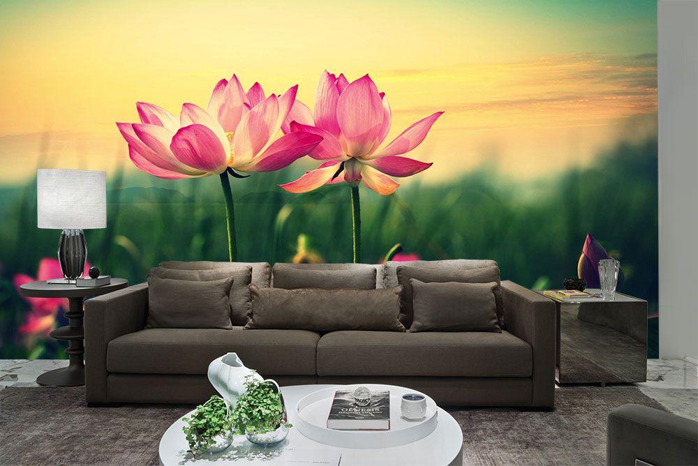 Papel De Parede 3D | Flores 0022 - papel de parede de flores  - Paredes Decoradas