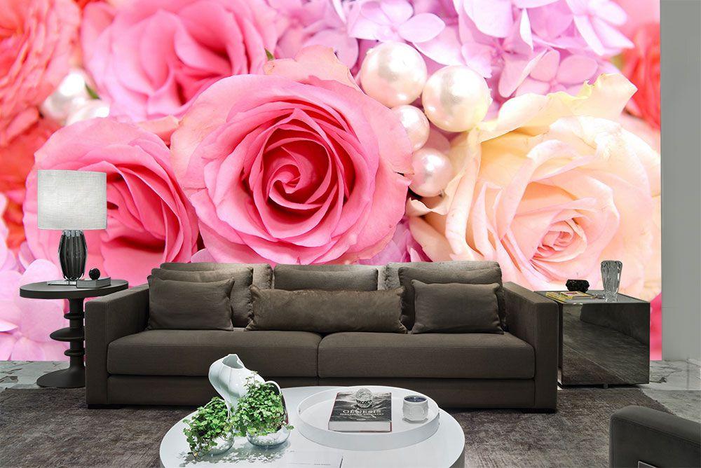 Papel De Parede 3D | Flores 0024 - papel de parede de flores