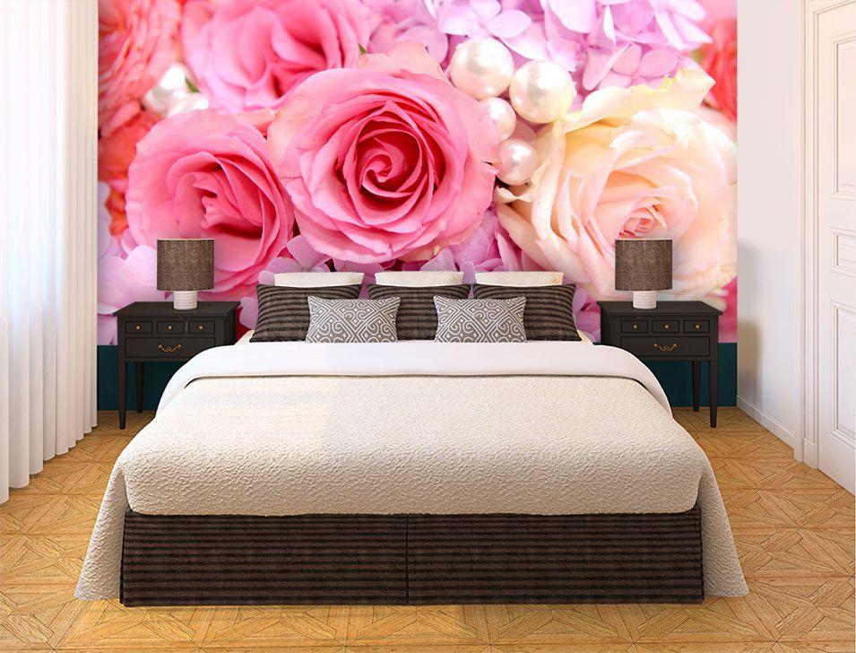 Papel De Parede 3D | Flores 0024 - papel de parede de flores  - Paredes Decoradas