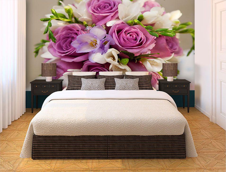 Papel De Parede 3D | Flores 0025 - papel de parede de flores  - Paredes Decoradas