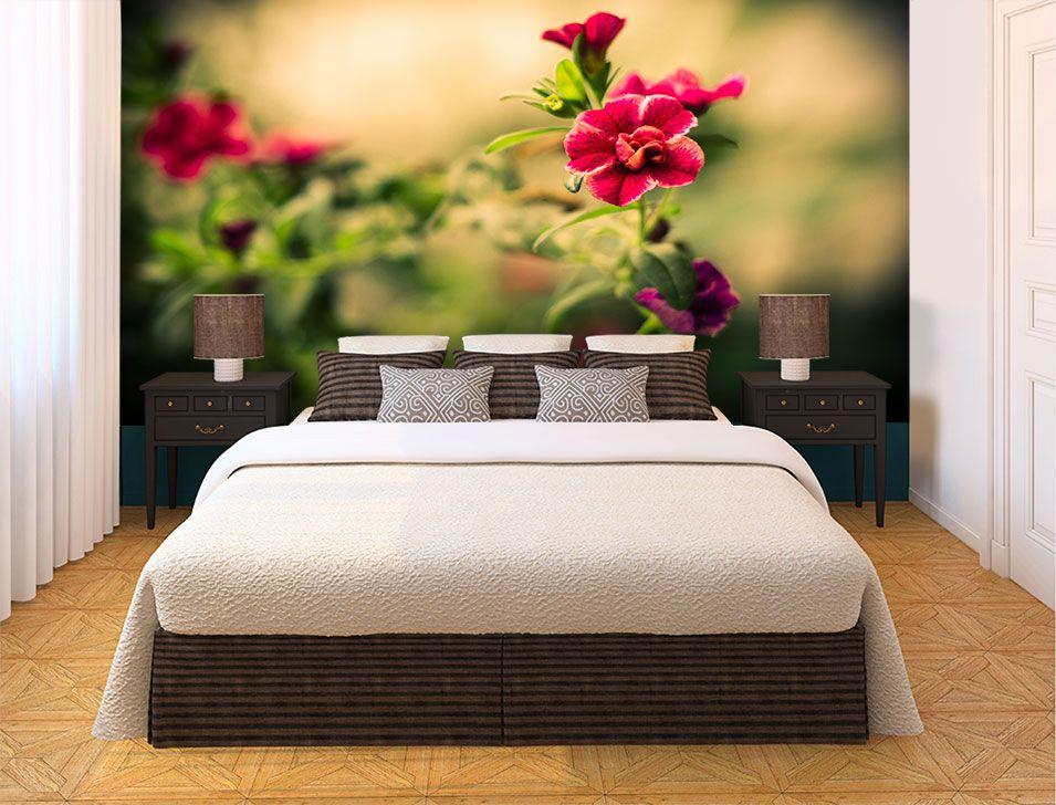 Papel De Parede 3D   Flores 0026 - papel de parede de flores  - Paredes Decoradas