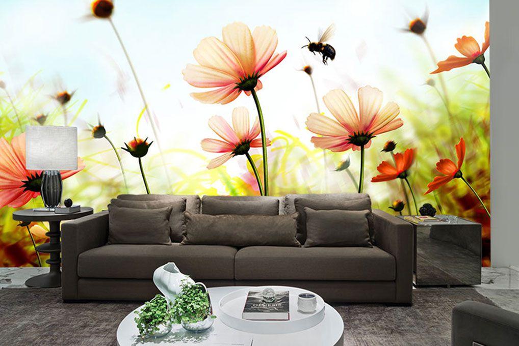 Papel De Parede 3D | Flores 0027 - papel de parede flores