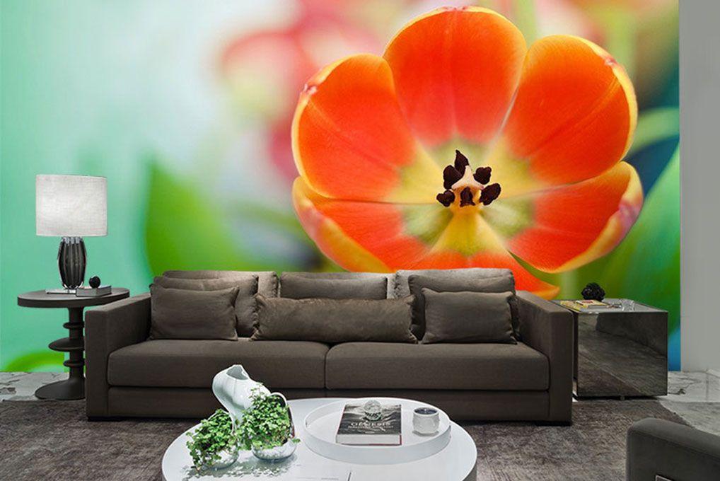 Papel De Parede 3D | Flores 0028 - papel de parede flores