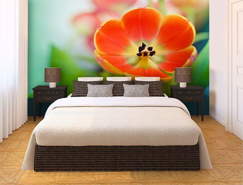Papel De Parede 3D | Flores 0028 - papel de parede flores  - Paredes Decoradas