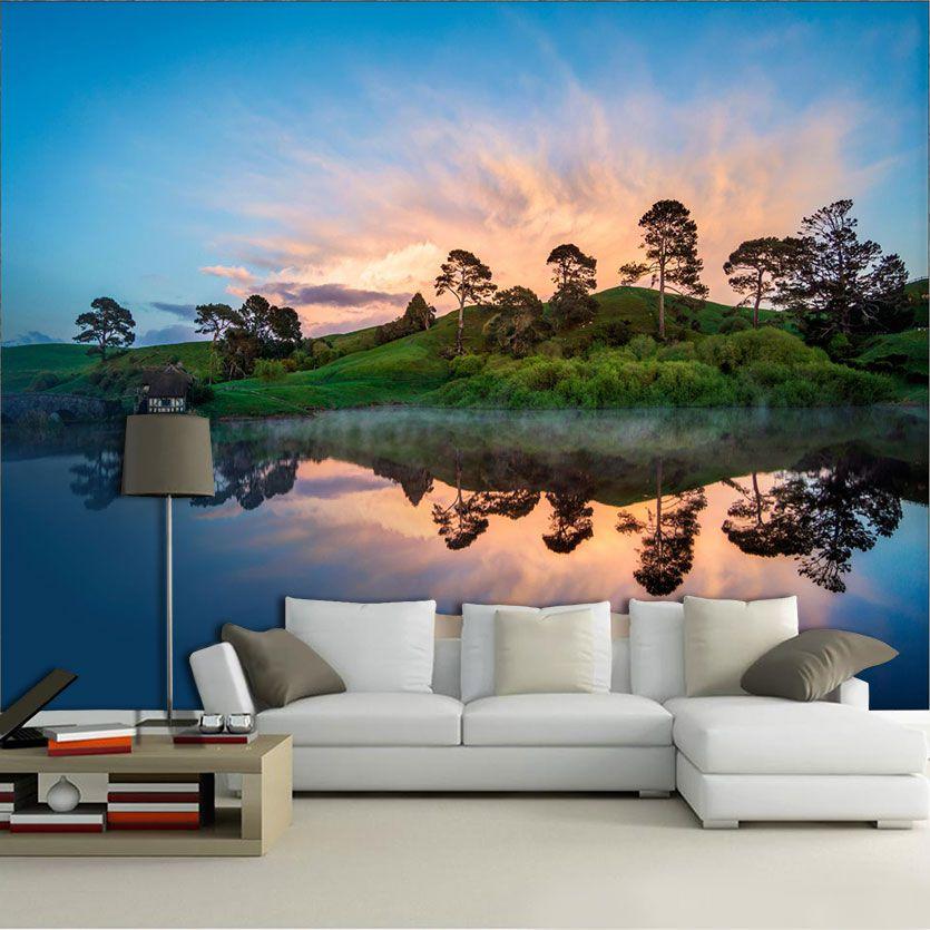 Papel De Parede 3D | Lagos 0008 - papel de parede paisagem