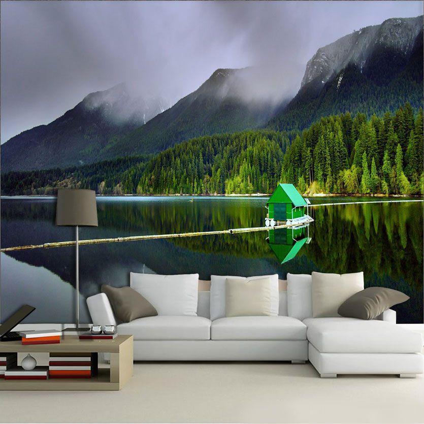 Papel De Parede 3D | Lagos 0014 - papel de parede paisagem  - Paredes Decoradas