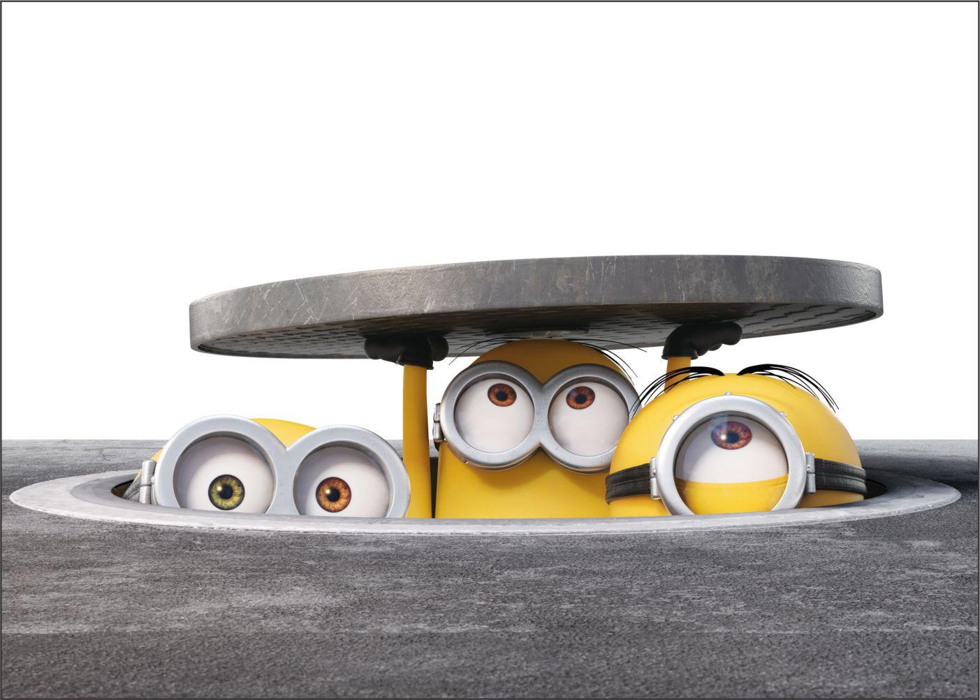 Papel de Parede 3D Minions 0013 - Adesivos de Parede  - Paredes Decoradas
