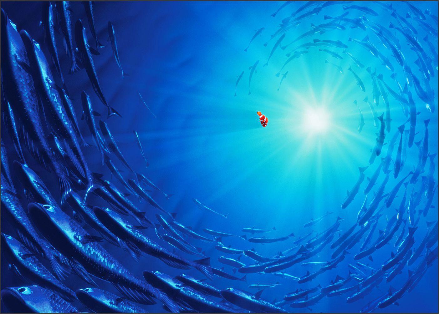 Papel de Parede 3D Nemo 0013 - Adesivos de Parede  - Paredes Decoradas