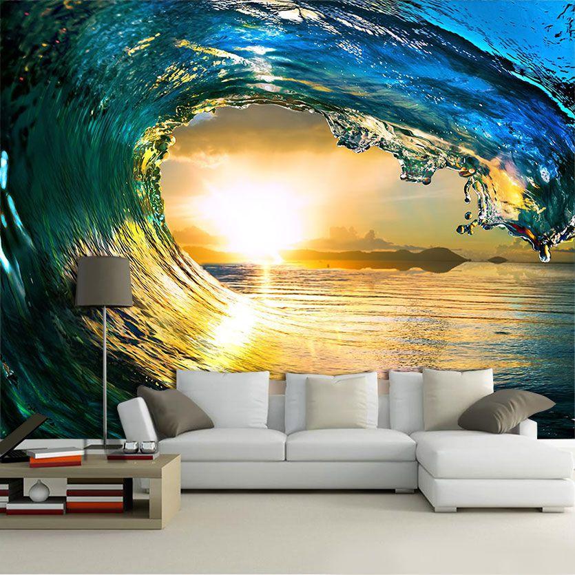 Papel De Parede 3D | Oceanos 0002 - papel de parede paisagem  - Paredes Decoradas
