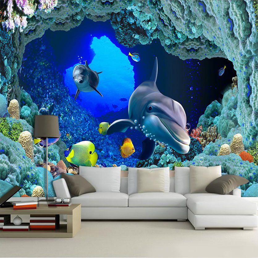 Papel De Parede 3D | Oceanos 0004 - papel de parede paisagem  - Paredes Decoradas