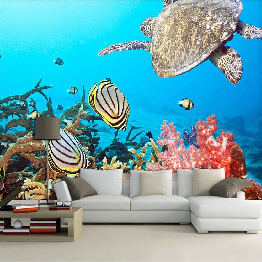 Papel De Parede 3D | Oceanos 0006 - papel de parede paisagem  - Paredes Decoradas