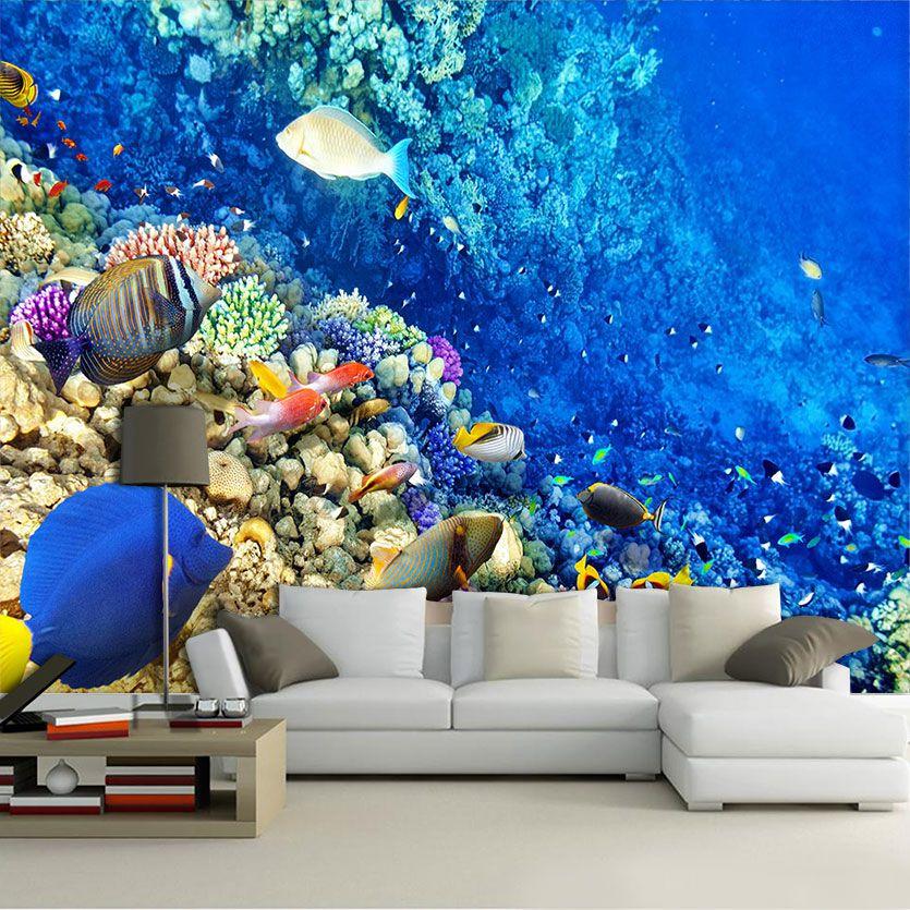 Papel De Parede 3D | Oceanos 0007 - papel de parede paisagem  - Paredes Decoradas