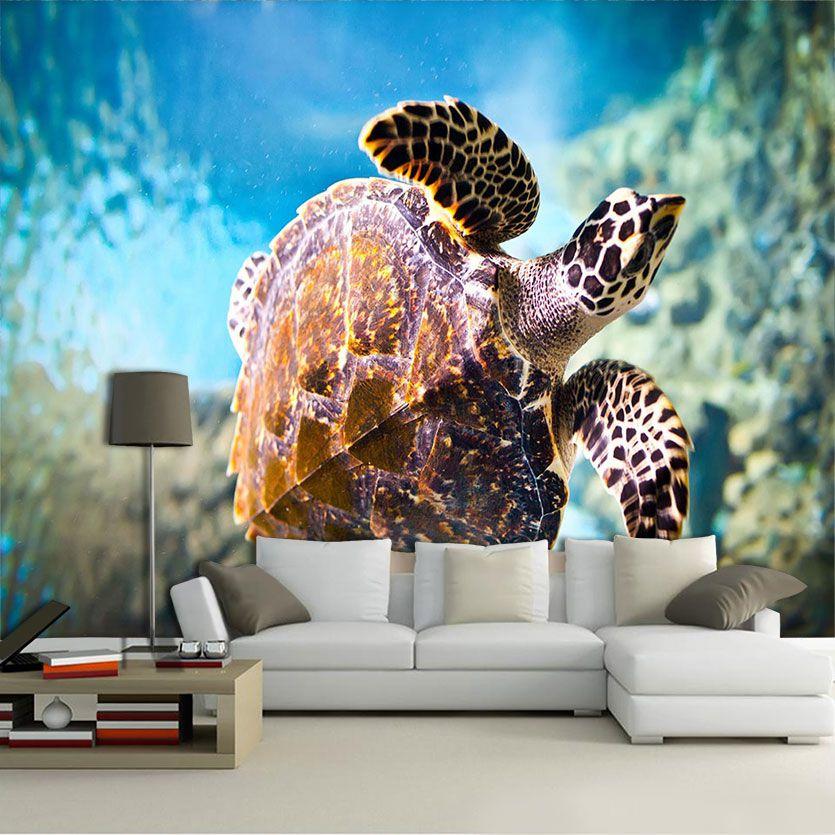 Papel De Parede 3D | Oceanos 0011 - papel de parede paisagem  - Paredes Decoradas