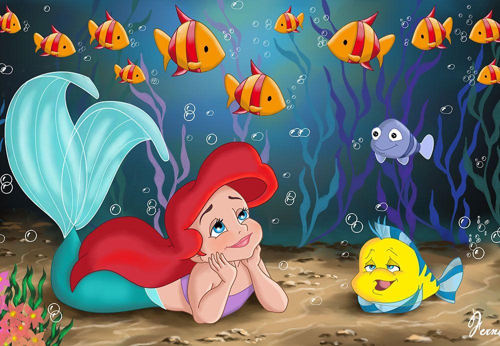 Papel de Parede Infantil Ariel 0006 - papel de parede para quarto  - Paredes Decoradas