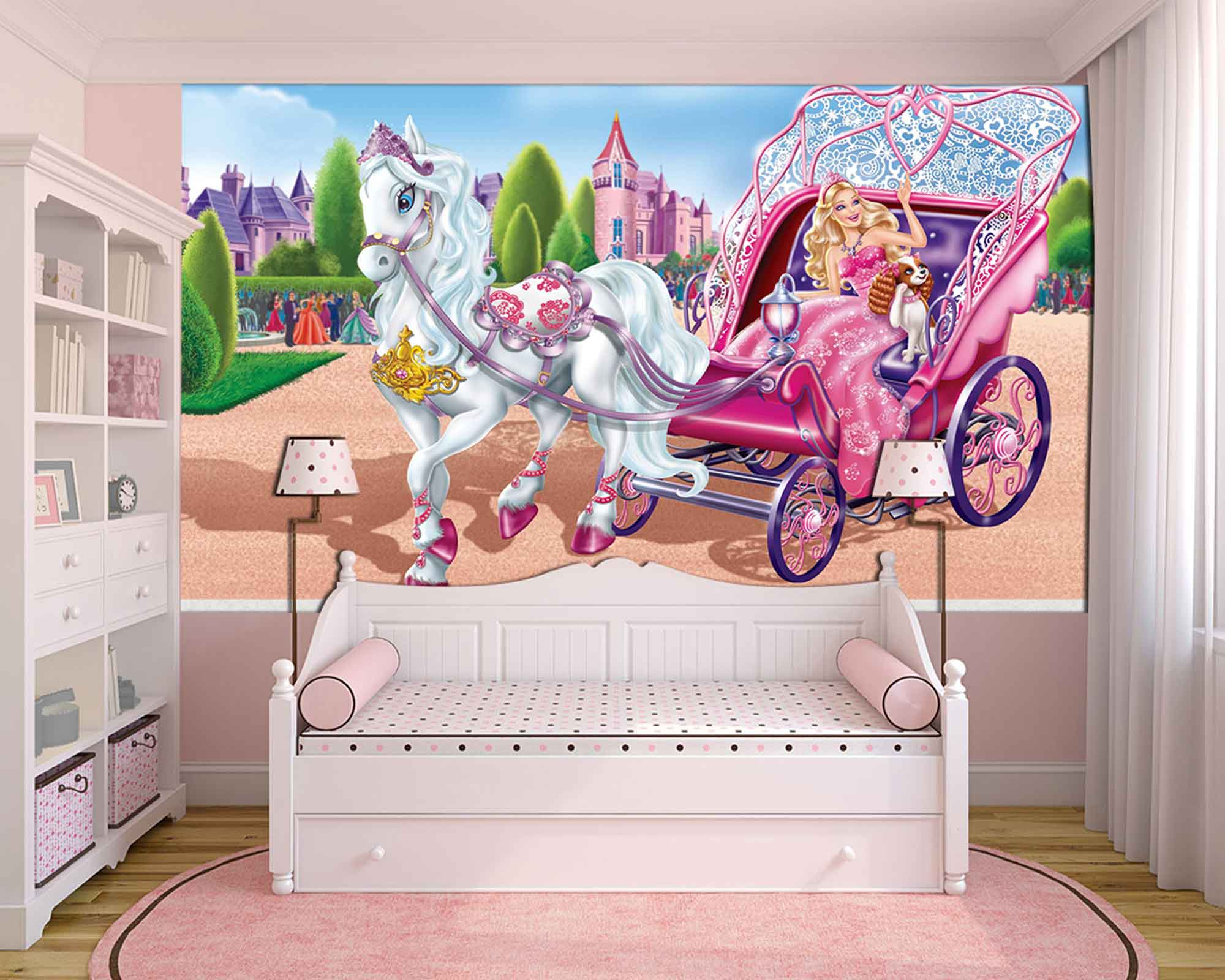 Papel De Parede 3D | Papel de Parede Infantil Barbie 0001 - Sobmedida: m²