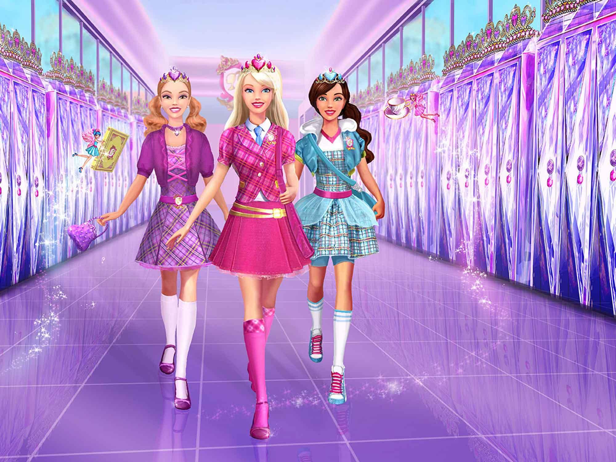 Papel De Parede 3D   Papel de Parede Infantil Barbie 0003 - Sobmedida: m²  - Paredes Decoradas