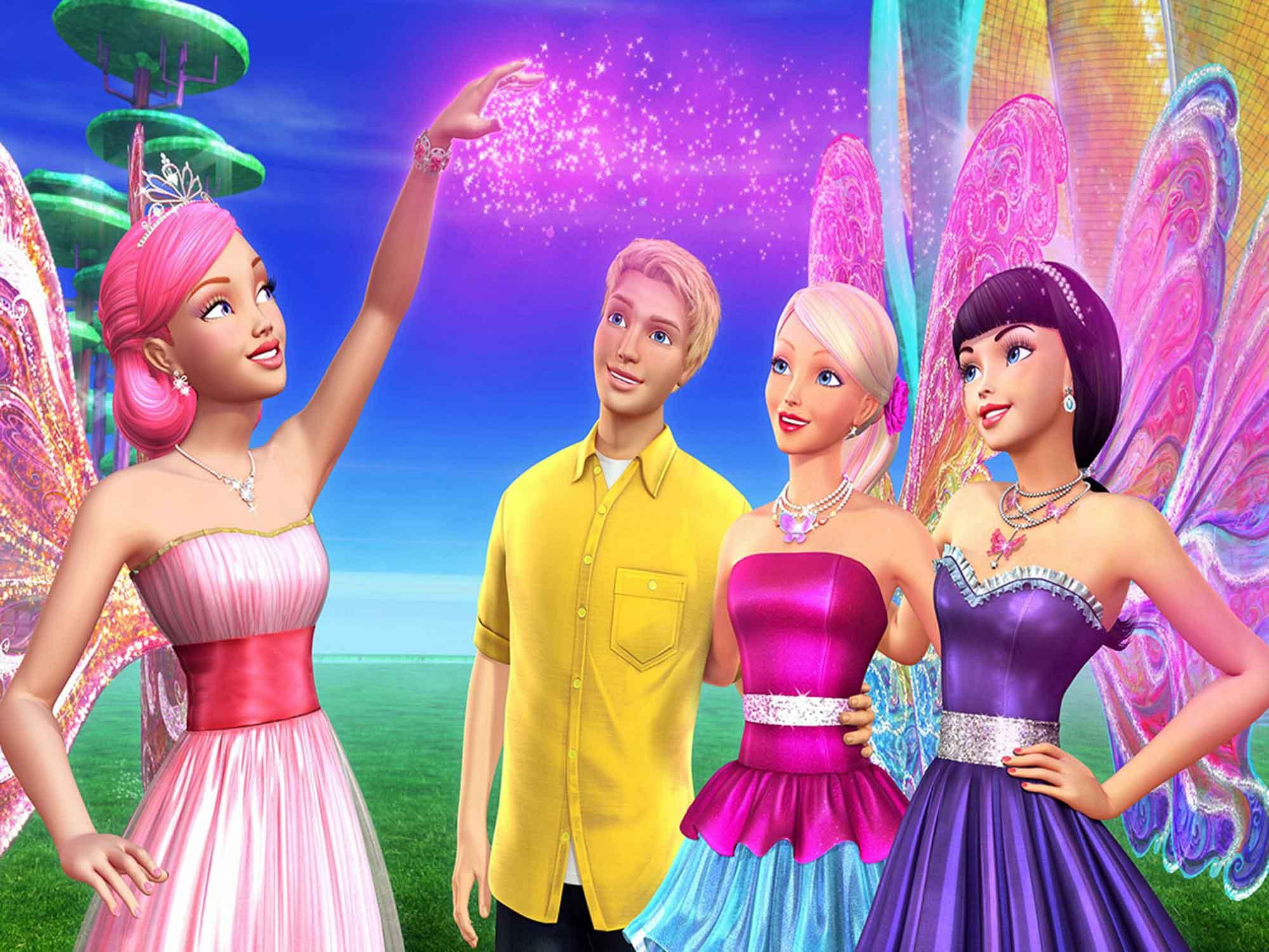 Papel De Parede 3D | Papel de Parede Infantil Barbie 0004 - Sobmedida: m²  - Paredes Decoradas