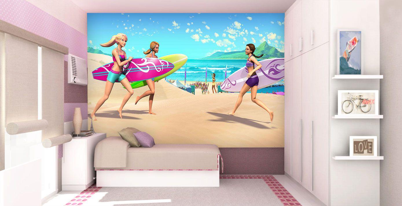 Papel De Parede 3D | Papel de Parede Infantil Barbie 0005 - Sobmedida: m²