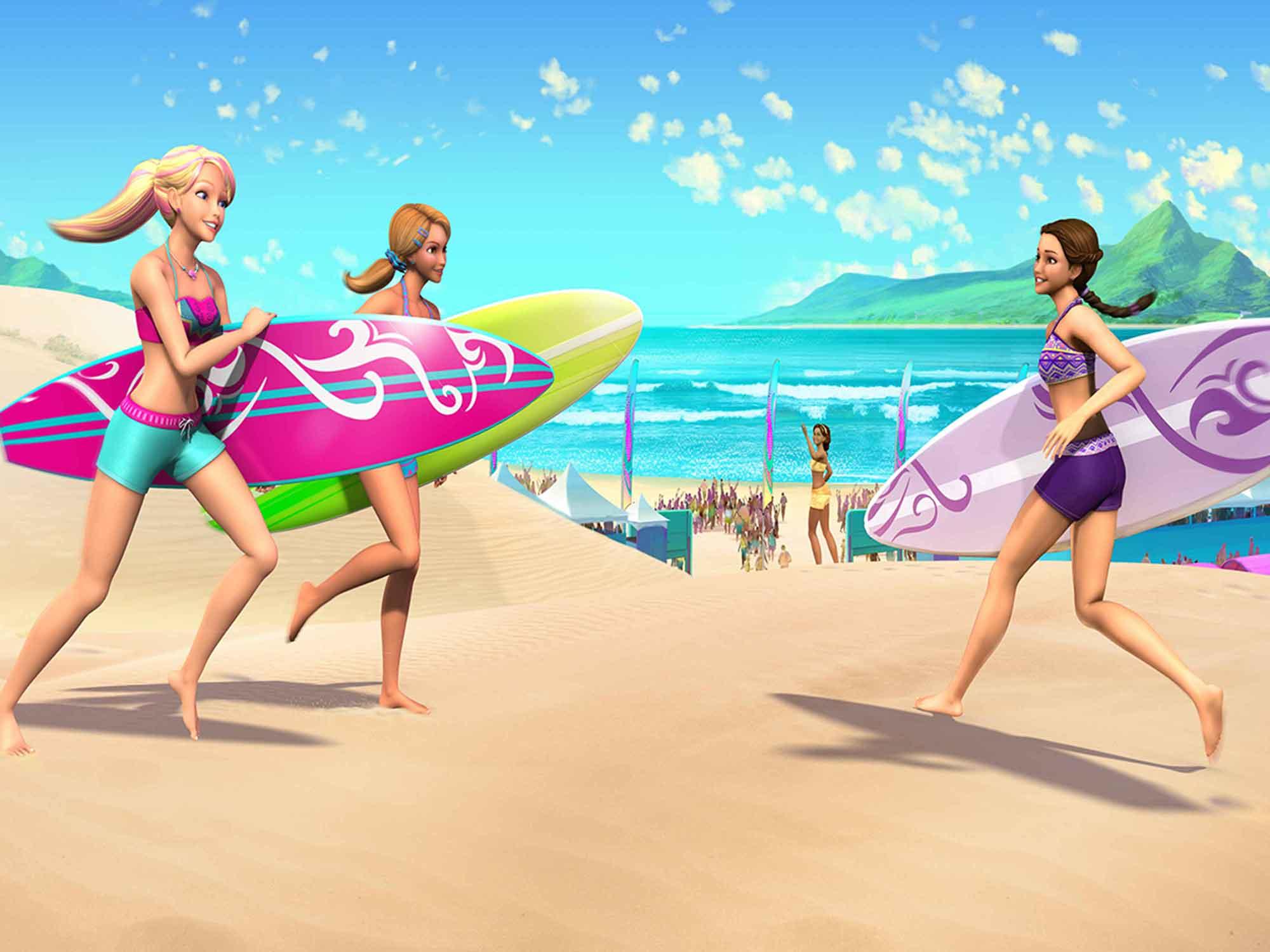 Papel De Parede 3D | Papel de Parede Infantil Barbie 0005 - Sobmedida: m²  - Paredes Decoradas