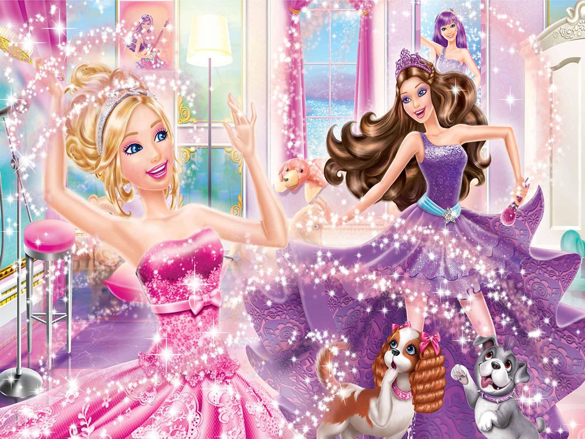 Papel De Parede 3D | Papel de Parede Infantil Barbie 0006 - Sobmedida: m²  - Paredes Decoradas