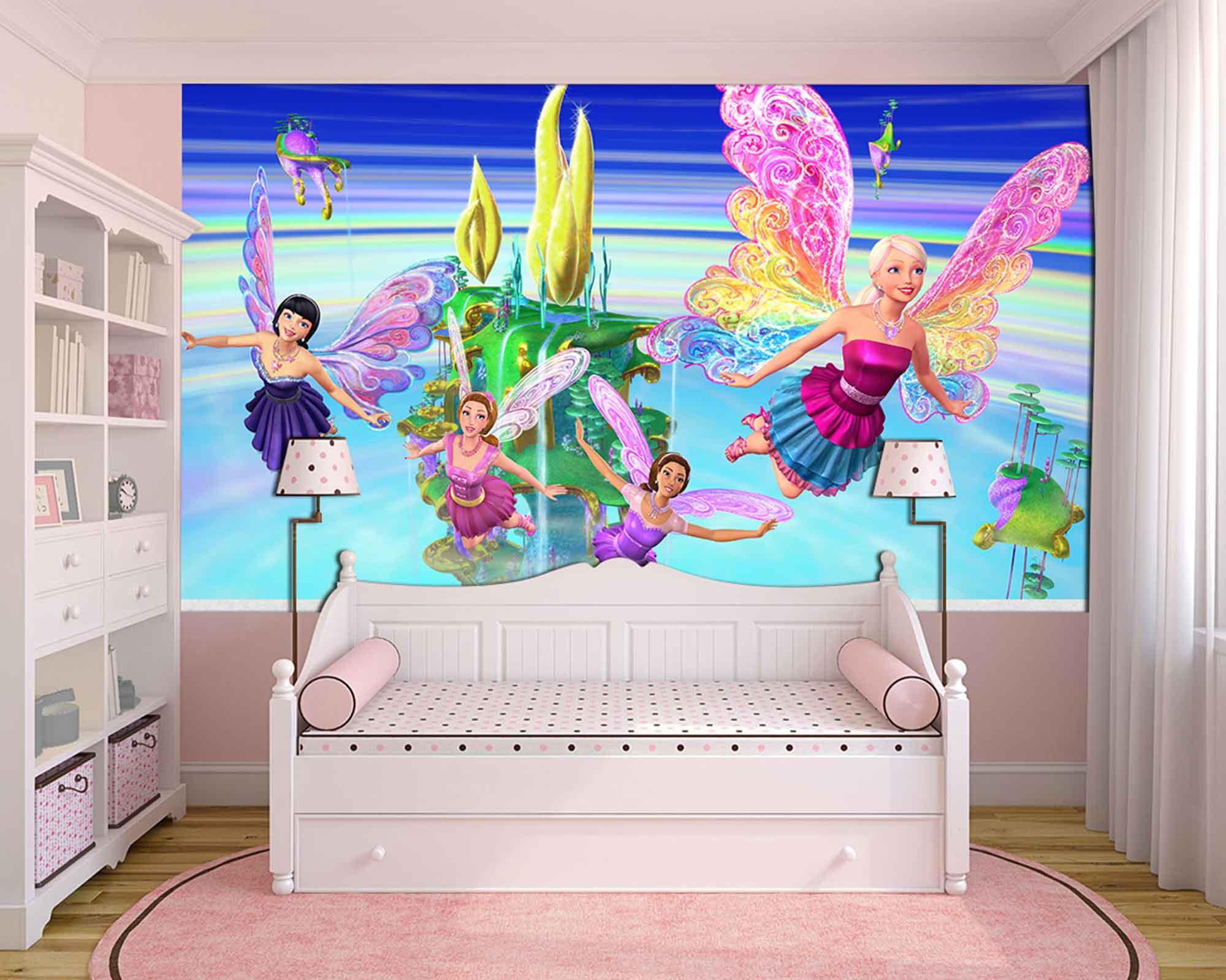 Papel De Parede 3D | Papel de Parede Infantil Barbie 0007 - Sobmedida: m²  - Paredes Decoradas