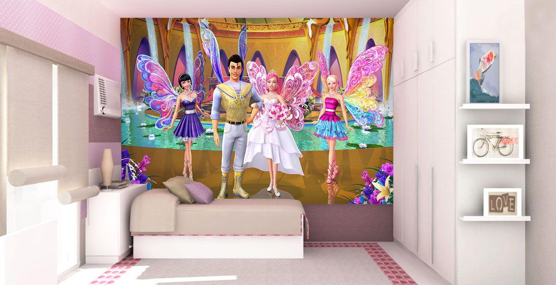 Papel De Parede 3D | Papel de Parede Infantil Barbie 0008 - Sobmedida: m²  - Paredes Decoradas