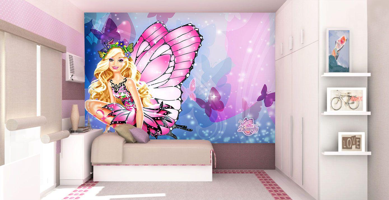 Papel De Parede 3D | Papel de Parede Infantil Barbie 0009 - Sobmedida: m²  - Paredes Decoradas