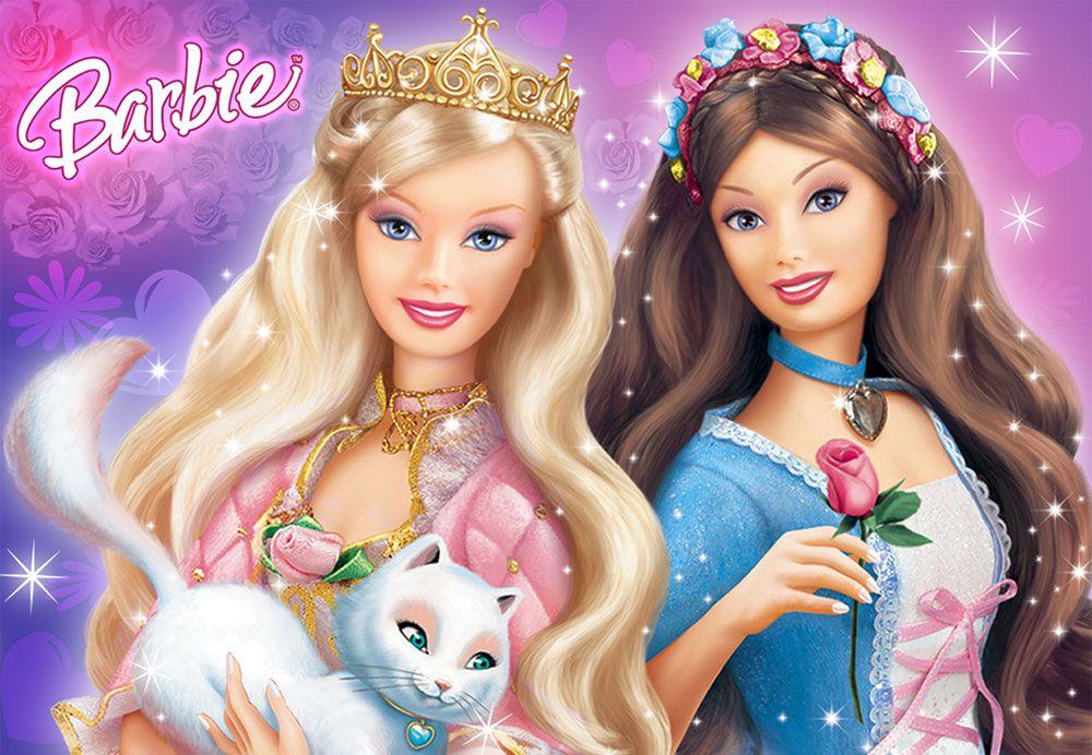 Papel De Parede 3D | Papel de Parede Infantil Barbie 0010 - Sobmedida: m²  - Paredes Decoradas