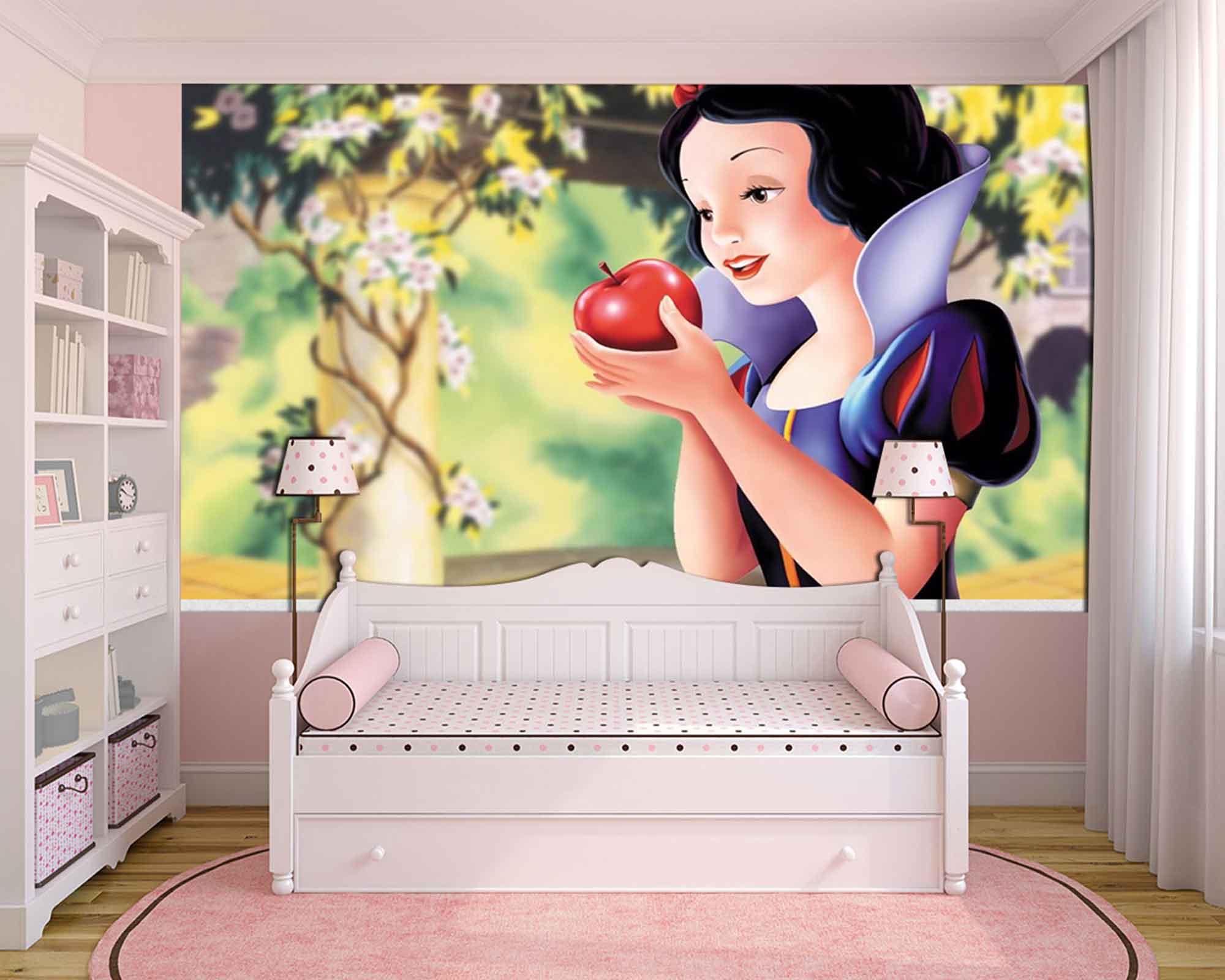 Papel De Parede 3D | Papel de Parede Infantil Branca de Neve 0003 - Sobmedida: m²  - Paredes Decoradas
