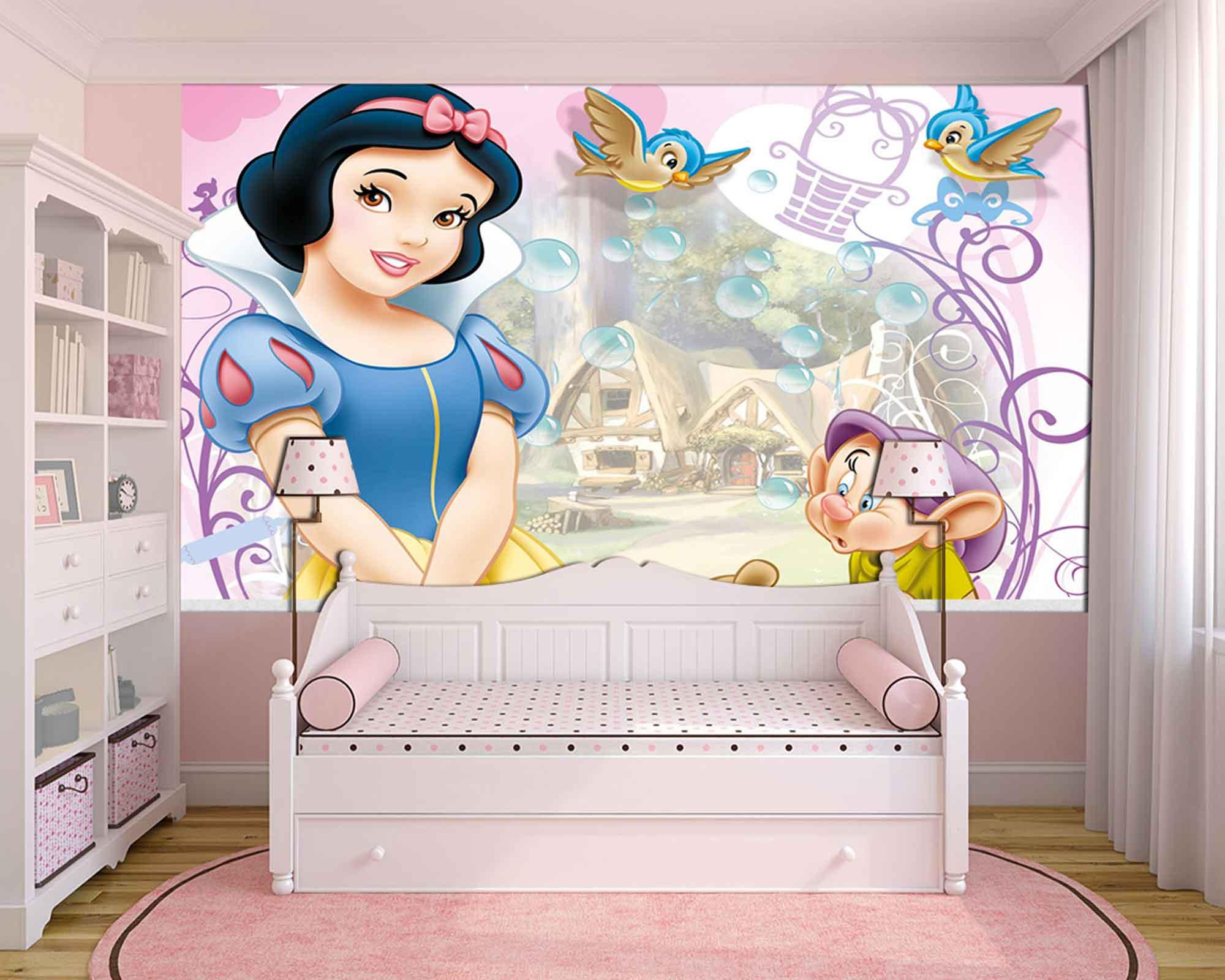 Papel De Parede 3D | Papel de Parede Infantil Branca de Neve 0010 - Sobmedida: m²  - Paredes Decoradas