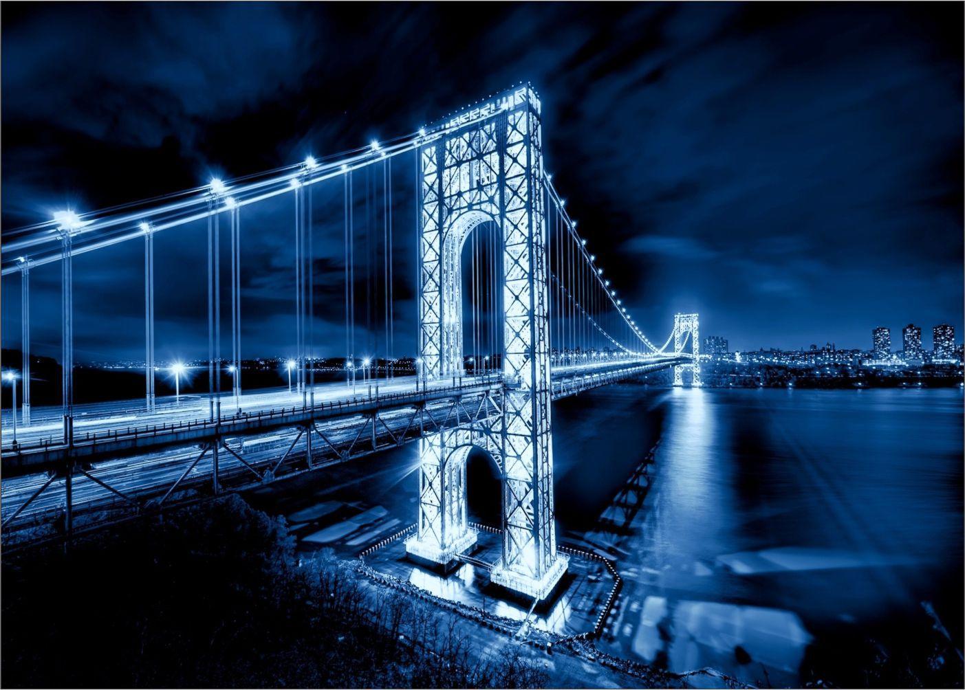 Papel De Parede 3D Pontes 0009 - papel de parede paisagem   - Paredes Decoradas