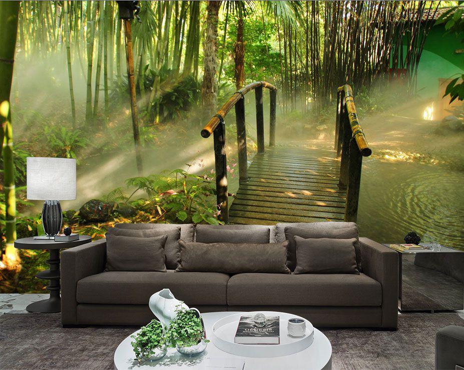 Papel De Parede 3D Pontes 0011 - papel de parede paisagem