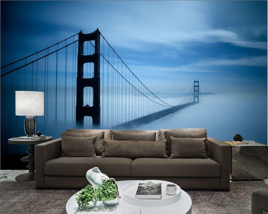 Papel De Parede 3D Pontes 0015 - papel de parede paisagem   - Paredes Decoradas