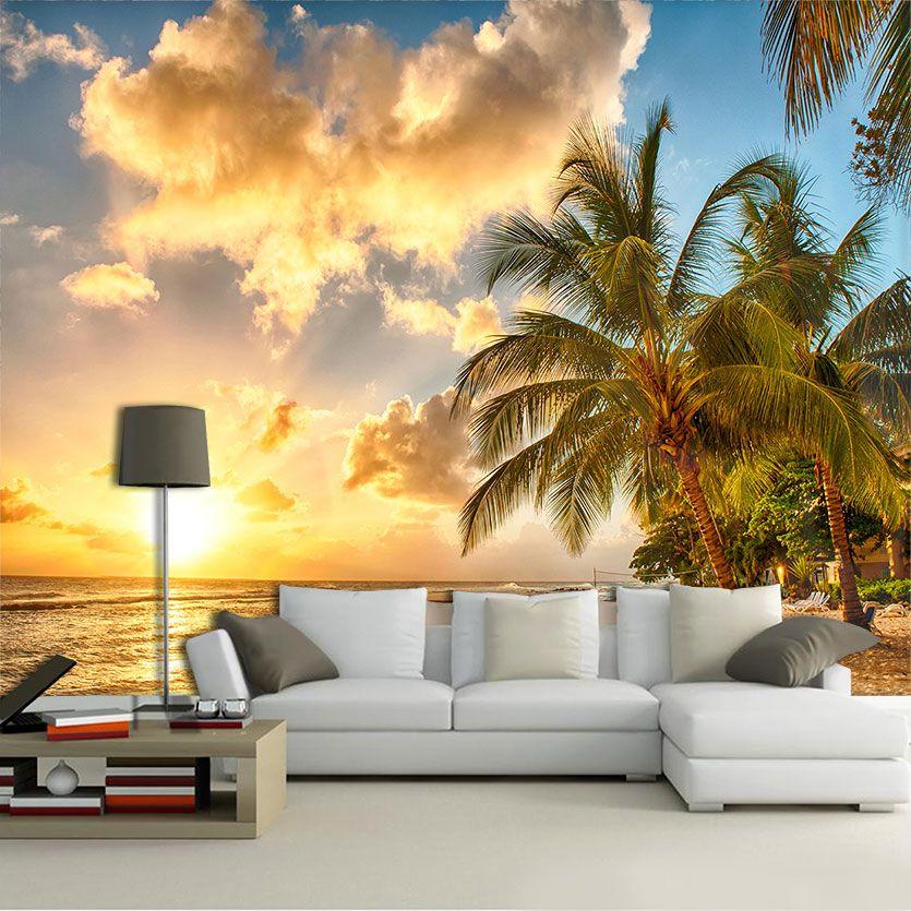 Papel de Parede 3D Praias 0018 - Adesivo Paisagem