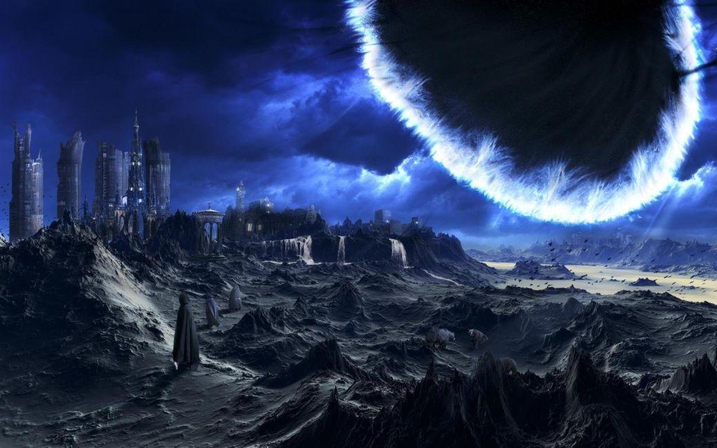 Papel De Parede 3D Universo 0002 - papel de parede paisagem  - Paredes Decoradas