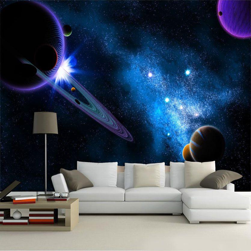 Papel De Parede 3D Universo 0003 - papel de parede paisagem  - Paredes Decoradas