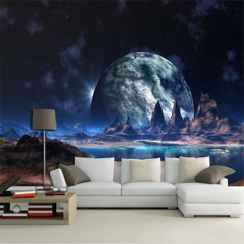Papel De Parede 3D Universo 0004 - papel de parede paisagem